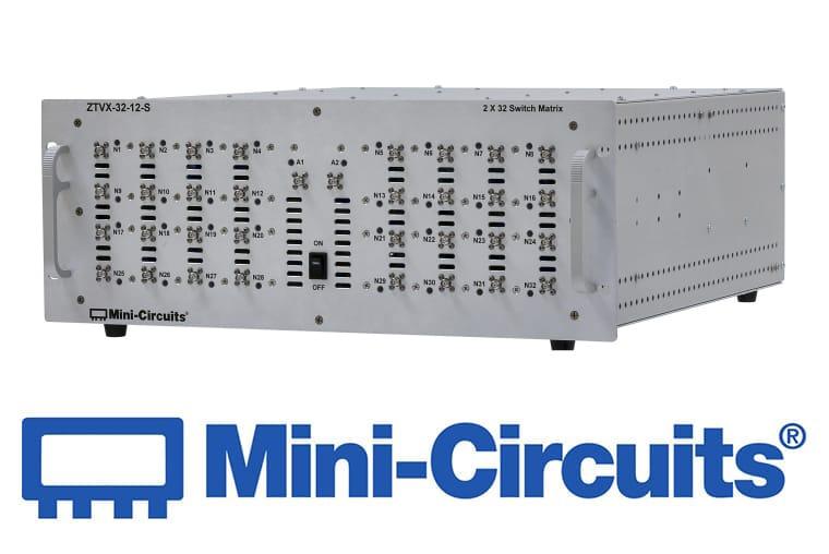 Mini Citcuits - 2×32 Schalt-Matrix DC – 12 GHz<br>ZTVX-32-12-S